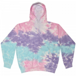 Tie Dye Cotton Candy Youth Pullover Hooded Sweatshirt