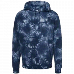 NEW Tie-Dyed (Navy Blue) Midweight Pullover Hooded Sweatshirt