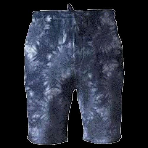 Tie-Dyed Fleece Shorts (Navy Blue)