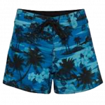 Ladies Board Shorts (Blue Palm Tree)