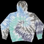 Cloud Glacier Tie-Dye Pullover Hooded Sweatshirt