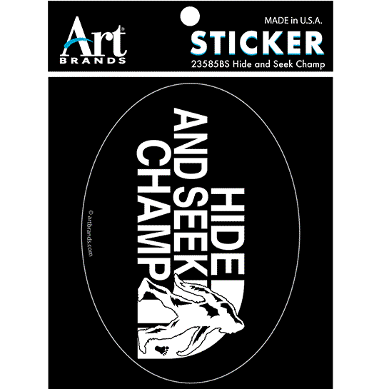 HIDE AND SEEK CHAMP STICKERS