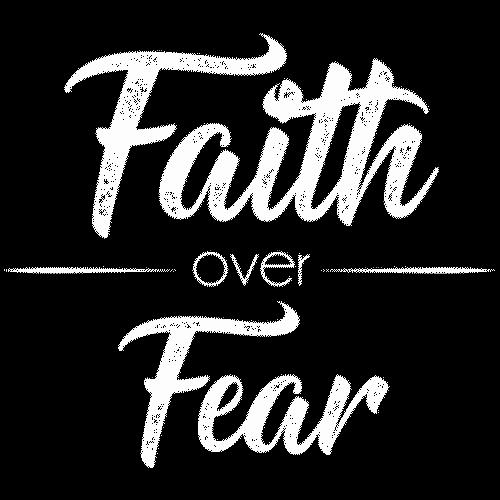 Faith/Fear (White Ink)