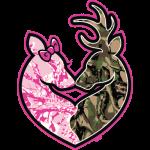 Deer (Love Couple) camo/pink