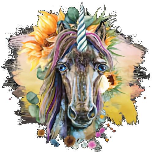 Unicorn Head (Sunflower)